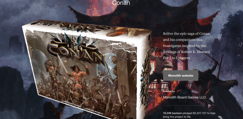Kickstarter Conan Board Game