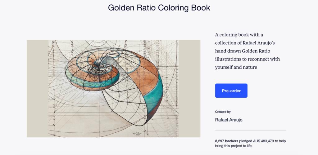 Kickstarter Book Golden Ratio