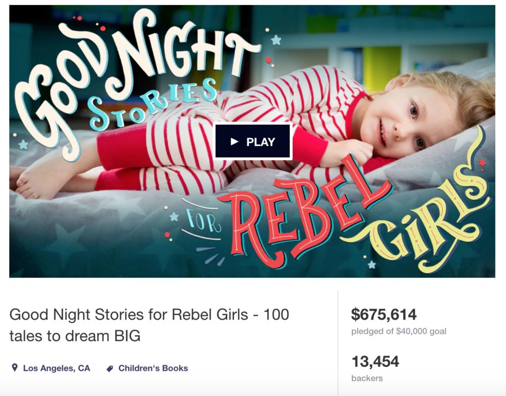 Good Night Stories For Rebel Girls Kickstarter Book