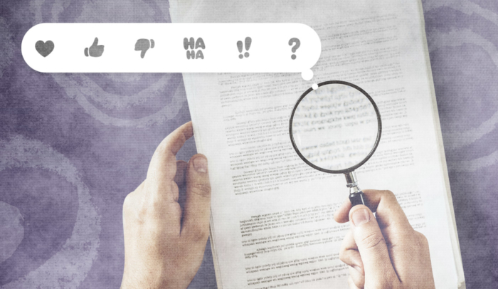 magnifying glass on top of a piece of paper