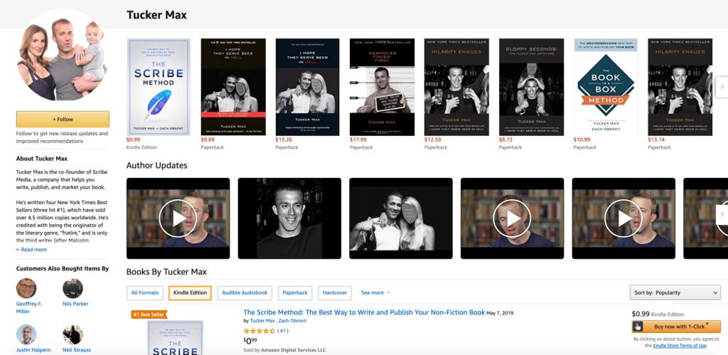 tucker max's amazon author page