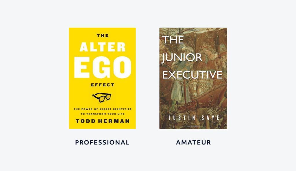 professional versus amateur book font