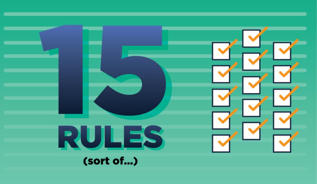 15 rules for manuscript formatting