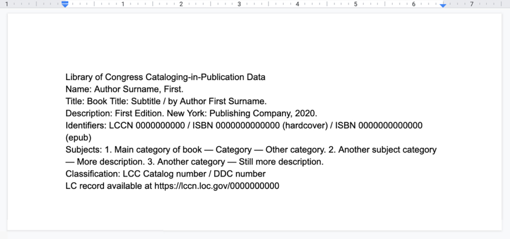 Cataloging-in-Publication Data