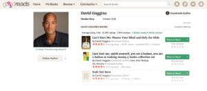 David Goggins goodreads profile page
