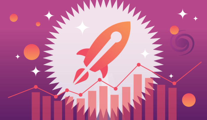 promoting a book rocket chart illustration