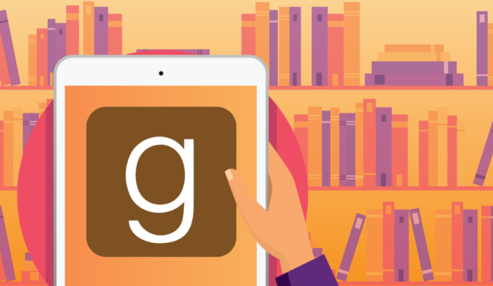 goodreads app on tablet