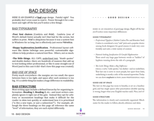 bad vs good design example