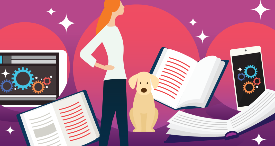 dog book illustration