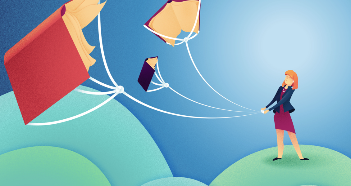 book kites illustration