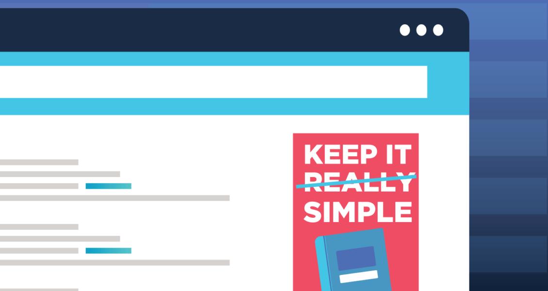 keep it simple book ad illustration