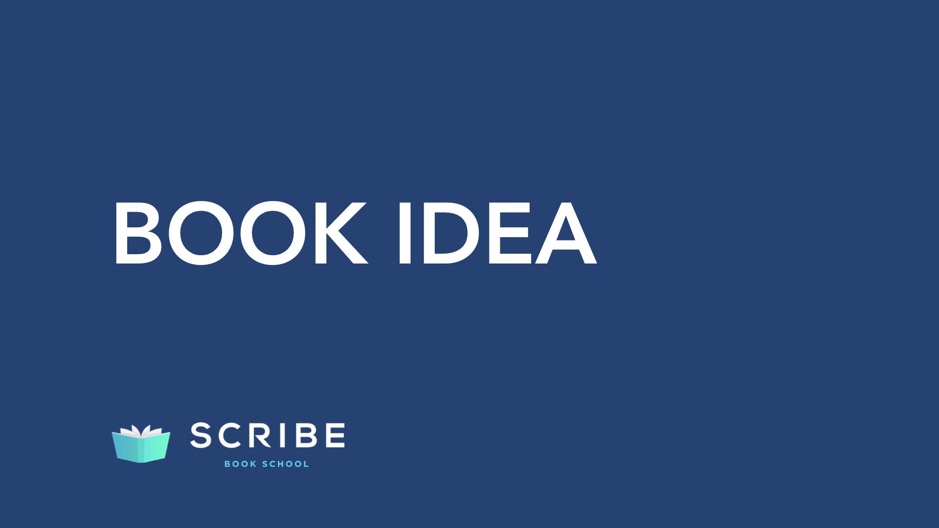 scribe book school book idea