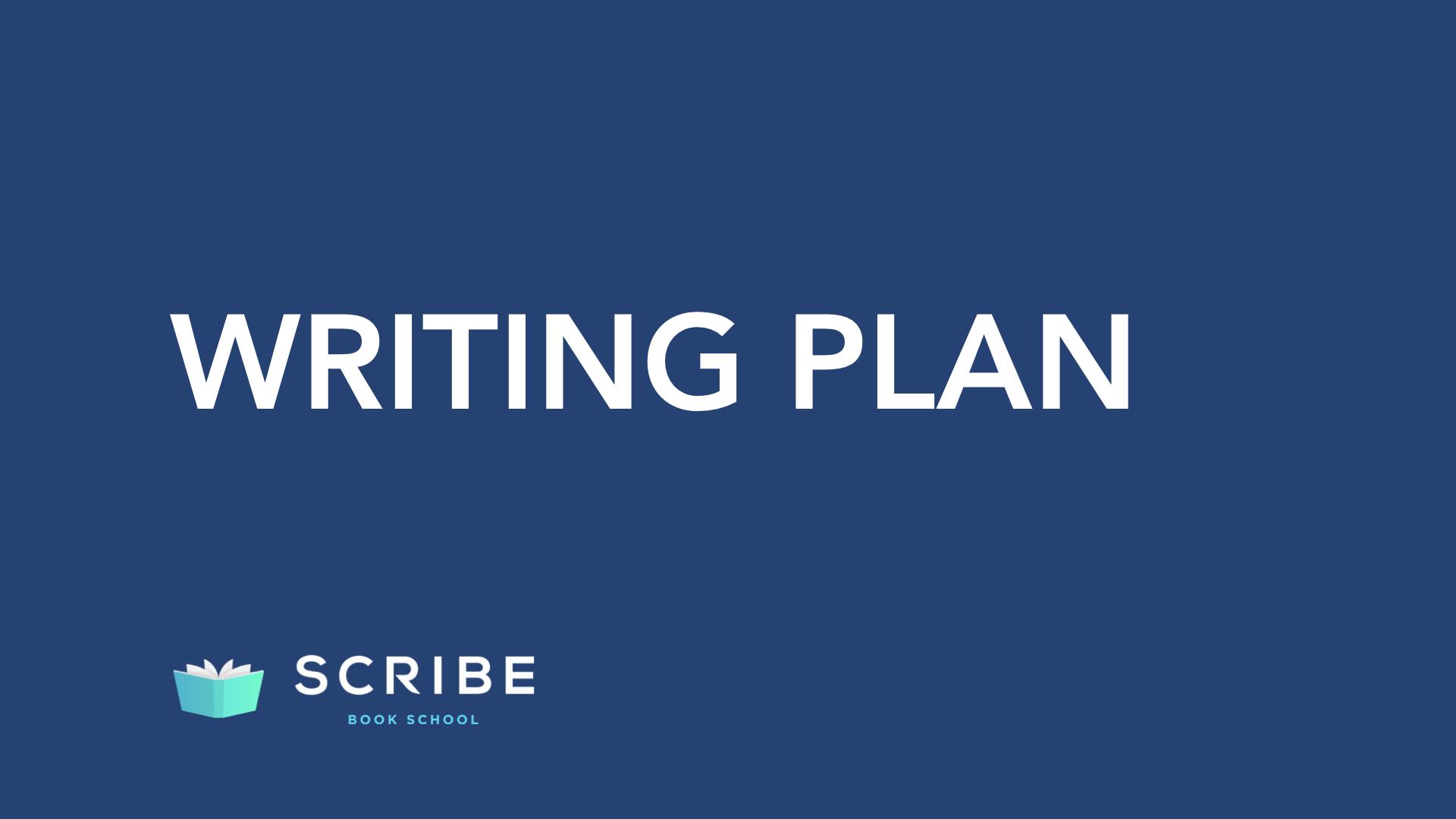 scribe book school writing plan