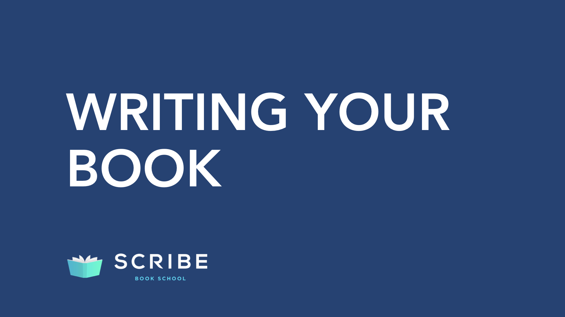 scribe book school writing your book