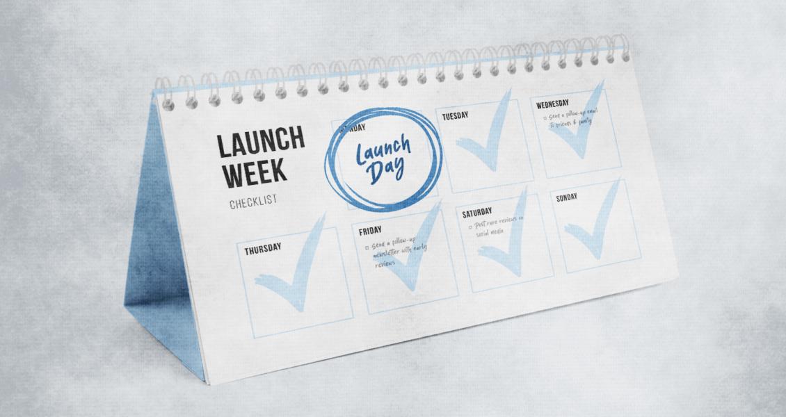 Launch week calendar