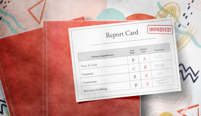 feature image writing report card