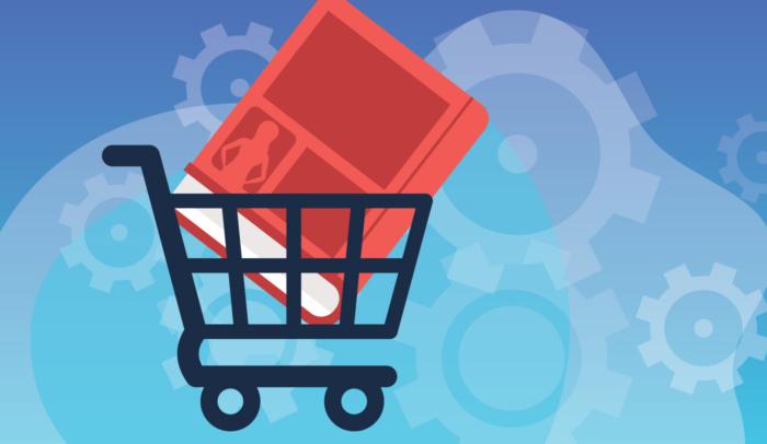 Book in a shopping cart