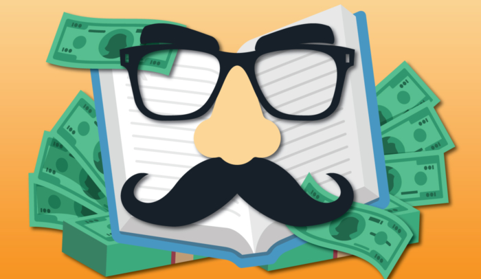 book with mustache disguise