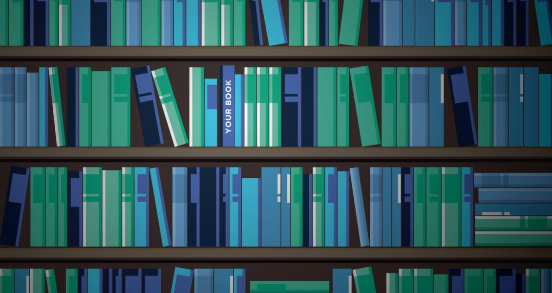 bookshelves illustration