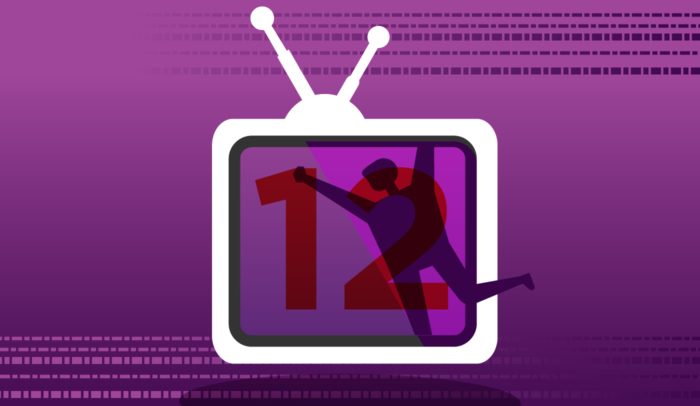 illustration of a tv with the number 12 in it