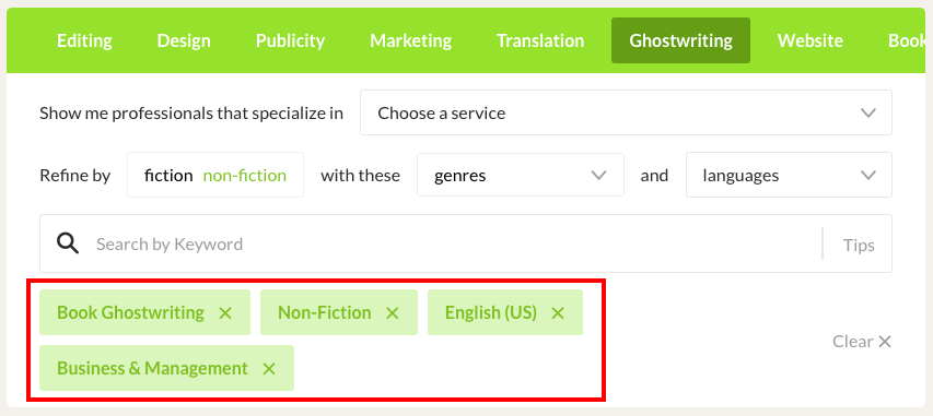 How to find a ghostwriter for a book with Reedsy.