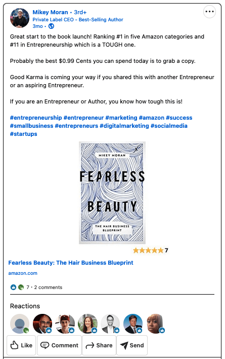 """Book launch social media campaign example: Mike Moran's """"Fearless Beauty"""""""